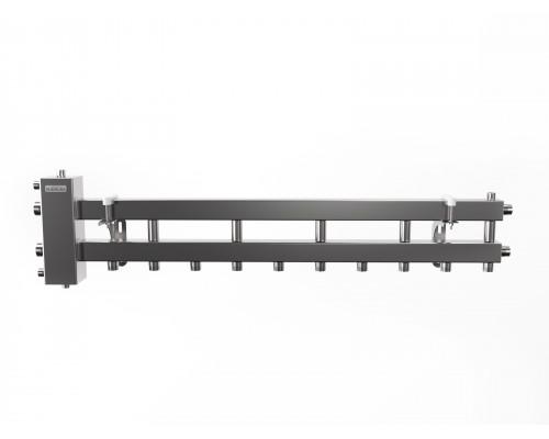 BMSS-100-6D (до 100 кВт, подкл. котла G 32мм, 5+1 контура G 25мм, матовая полировка)